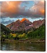 Sunrise At Maroon Bells Canvas Print