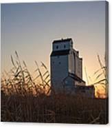 Grain Elevator At Sunrise Canvas Print