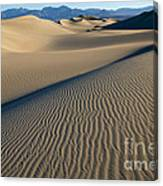 Sunrise At Mesquite Flat Sand Dunes Canvas Print