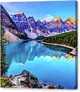 Sunrise At Moraine Lake Canvas Print