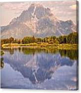 Sunrise At Oxbow Bend 2 Canvas Print