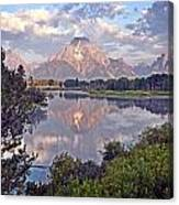 Sunrise At Oxbow Bend 4 Canvas Print
