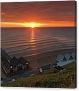 Sunrise At Saltburn Canvas Print