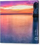 Summer Sunrise Selwick Bay Flamborough Canvas Print