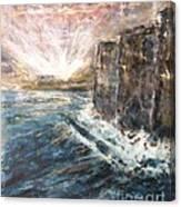 Sunrise At Tal-gurdan Cliffs Canvas Print