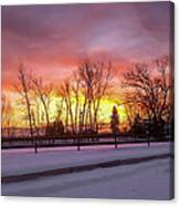 Sunrise At The Barn Canvas Print
