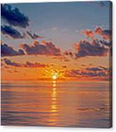 Sunrise At The Seychelles Canvas Print