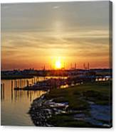 Sunrise At Two Mile Inlet - Wildwood Crest Canvas Print