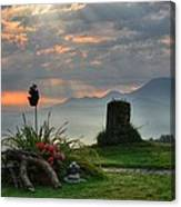 Sunrise At Wetzelsberg  Canvas Print