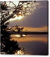 Sunrise At Yellowstone Lake Canvas Print