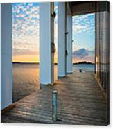 Sunrise Boardwalk Canvas Print