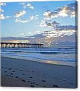 Sunrise By The Pier Canvas Print