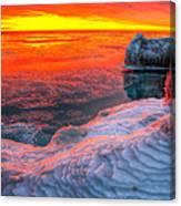 Sunrise Chicago Lake Michigan 1-30-14 Canvas Print
