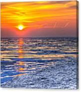 Sunrise Chicago Lake Michigan 3-9-14 Canvas Print