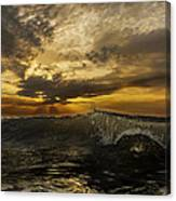 Sunrise Clear Wave  Canvas Print