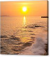 Sunrise Colors - San Francisco Bay Canvas Print