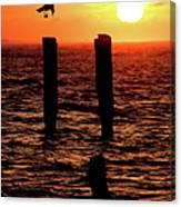 Sunrise Descent - Outer Banks Ocracoke Canvas Print
