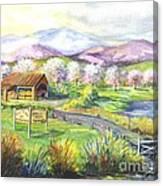 Sunrise Farm Stand Canvas Print