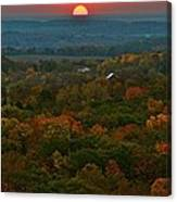 Sunrise From Atop Canvas Print