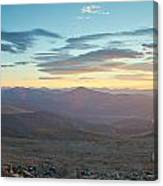 Sunrise From Mt Sherman Panorama Canvas Print