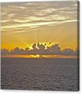 Sunrise From The Ship Canvas Print