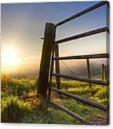 Sunrise  Gate Canvas Print