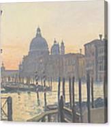 Sunrise Grand Canal Canvas Print