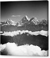 Sunrise Himalayas Mountain Nepal Silhouette Canvas Print