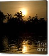 Sunrise In Amazon Canvas Print