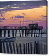 Sunrise In Avalon - 32nd Street Pier Canvas Print