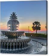 Sunrise In Charleston Canvas Print