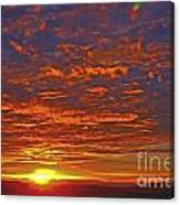 Sunrise In Colombia Canvas Print