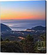 sunrise in Elba island Canvas Print