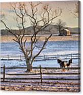 Sunrise In Hegins Canvas Print