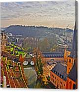 Sunrise In Old Town Canvas Print