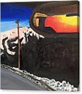 Sunrise In Rear View Canvas Print