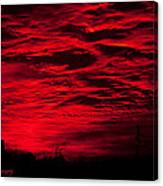 Sunrise In Red Canvas Print
