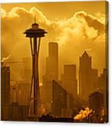 Sunrise In Seattle Canvas Print