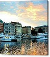 Sunrise In Stockholm Canvas Print