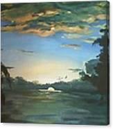 Sunrise  In Tanon Strait Canvas Print
