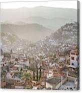Sunrise In Taxco, Guerrero, Mexico Canvas Print