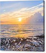 Sunrise In The Atlantic Canvas Print