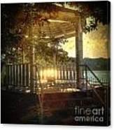 Sunrise In The Gazebo Canvas Print