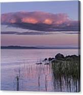 Sunrise Lake Champlain Shore Vermont Clouds Canvas Print