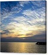 Sunrise Lake Michigan September 7th 2013 005 Canvas Print