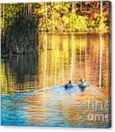 Sunrise Lake Rendezvous Canvas Print