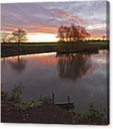 Sunrise Lenton Fishing Pond Canvas Print