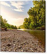 Sunrise Light On Buffalo River Canvas Print