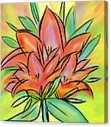 Sunrise Lily Canvas Print