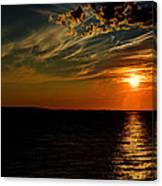 Sunrise Off Of Charlettetown Canvas Print